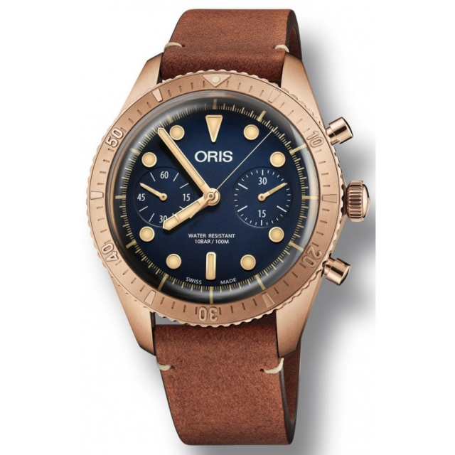 SÅLD - Oris Carl Brashear Chronograph Bronze Limited Edition