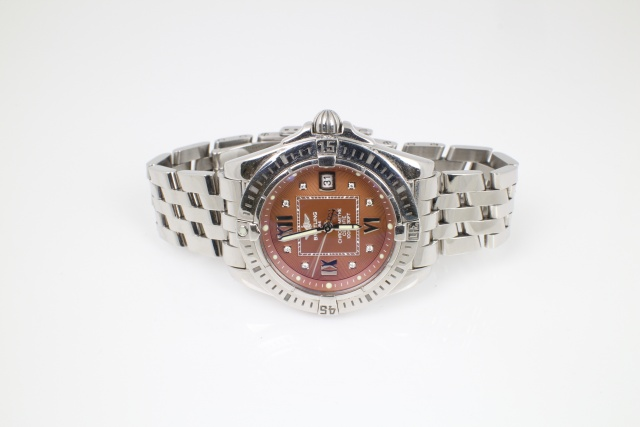 SÅLD - Breitling Cockpit Lady 32mm diamant index, Svensksåld, Full set