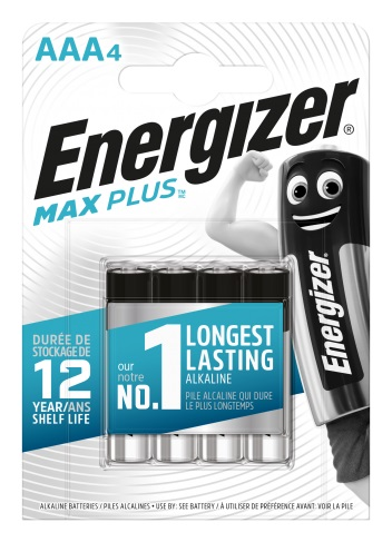 Energizer Max Plus AAA/LR03, 4-pack