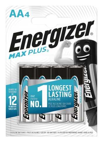 Energizer Max Plus AA/LR6, 4-pack