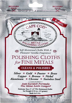 Cape Cod Metal Polishing Cloths, 2-pack