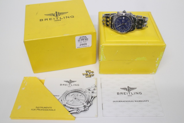 Breitling Chronomat Stål A13050, 1996 full set