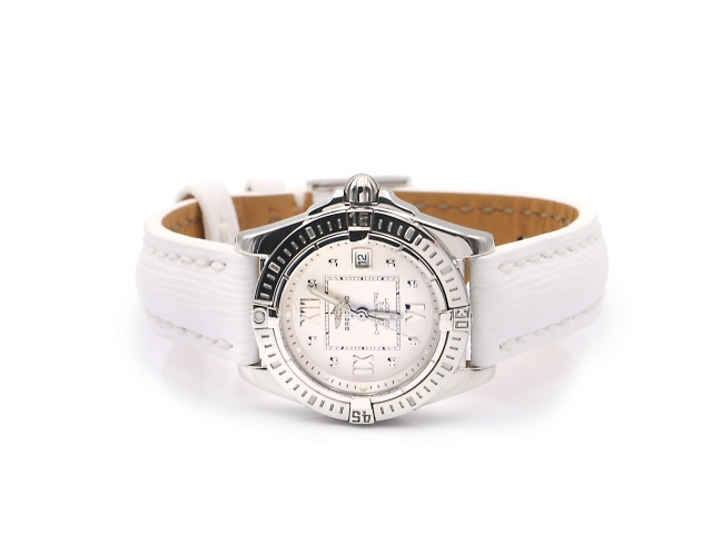 SÅLD - Breitling Cockpit Lady 32mm diamantindex - Full set, nyservad