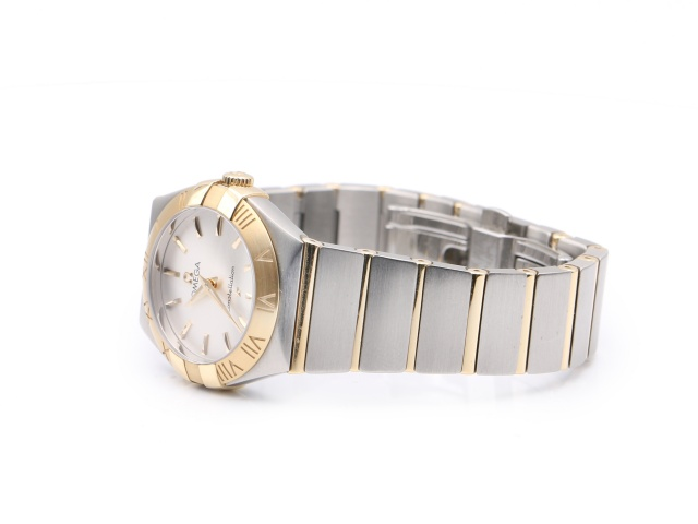 SÅLD - Omega Constellation Guld/Stål Quartz 27 mm, Full set 2019, nyskick