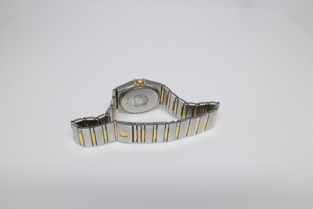 SÅLD - Omega Constellation 25mm Guld/Stål med diamanter