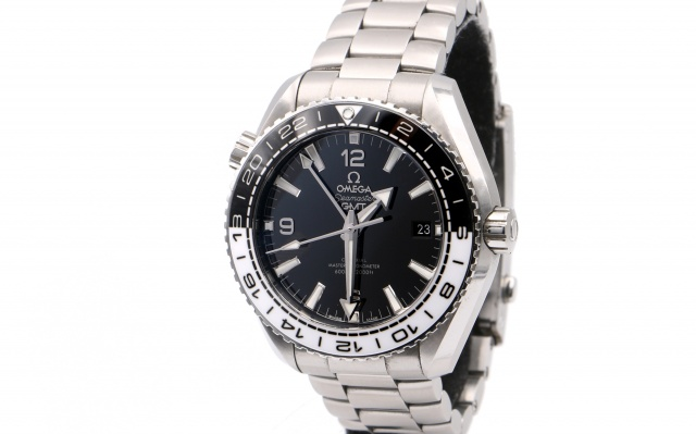 SÅLD - Omega Planet Ocean 600M GMT 43.5 mm - Full set 2018