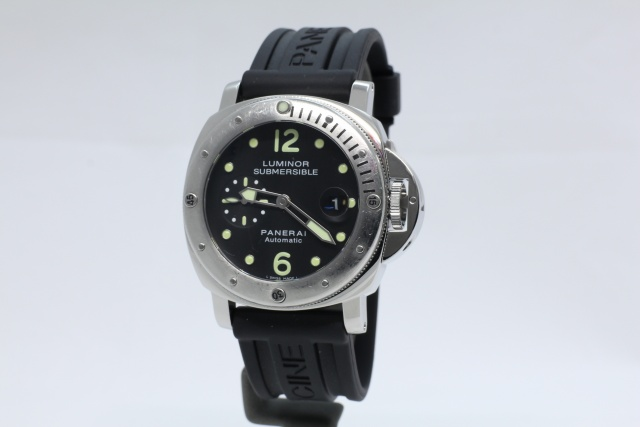 SÅLD - Panerai Luminor Submersible PAM 24, Svensksåld, Full set, Nyservad
