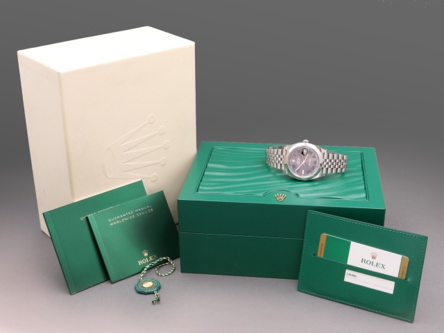 SÅLD - Rolex Datejust II Stål 41mm Wimbledon, 2018 Full set
